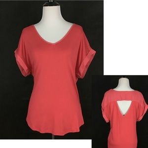 Pleione Nordstrom Mixed Media Jersey Blouse Small